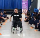 Wheelchair player inspires students