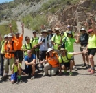Visually impaired teens hike the Grand Canyon
