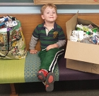 Preschoolers learn the benefits of recycling