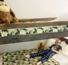Local organizations make beds for children