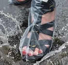 Retiree launches shoe cover business